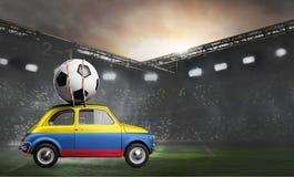 Colombia bil på fotbollsarena Royaltyfri Bild