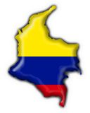 Colombia button flag map shape Stock Photography