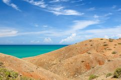 Colombia, Caribbean coast  in La Guajira Royalty Free Stock Photos