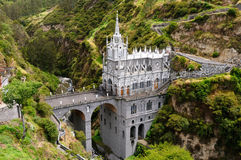 Colombia. Church of Las Lajas Royalty Free Stock Photos