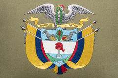 Colombia coat of arms Stock Image