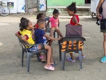 Colombia colombianska barn, folk, lopp Royaltyfri Bild