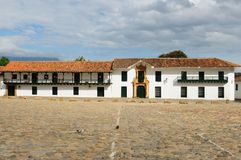 Colombia, Colonial architecture of Villa de Leyva Royalty Free Stock Photo