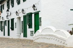 Colombia, Colonial architecture of Villa de Leyva Royalty Free Stock Photos
