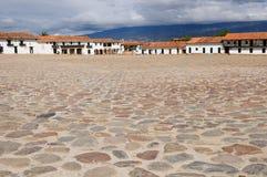 Colombia, Colonial architecture of Villa de Leyva Stock Image