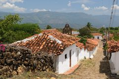 Colombia, Colonial village of Guane royalty free stock photo