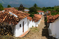 Colombia, Colonial village of Guane. Colombia, Santander, View of the colonial village of Guane, near Barichara city Stock Image