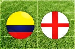 Colombia contra partido de fútbol de Inglaterra libre illustration