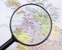 Colombia debajo de la lupa Imágenes de archivo libres de regalías