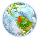 Colombia on Earth isolated Royalty Free Stock Photography
