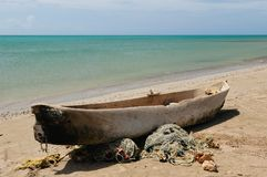 Colombia, Fishing boat in La Guajira Royalty Free Stock Images