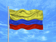 Colombia Flag 1 Royalty Free Stock Photography