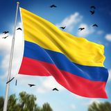 colombia flagę Zdjęcie Stock
