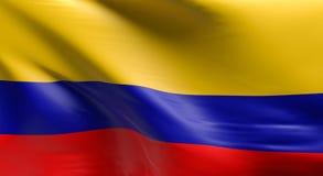 colombia flagę Zdjęcia Stock