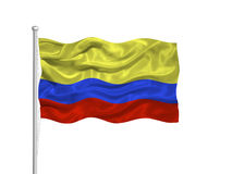 Colombia Flag 2 Stock Photography