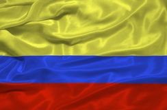 Colombia Flag 3 Royalty Free Stock Images