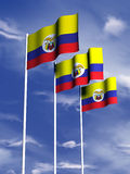 Colombia flag. The flag of Colombia flies in a soft breeze royalty free illustration