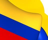 colombia flagę Zdjęcie Royalty Free