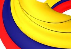 colombia flagę Zdjęcia Royalty Free