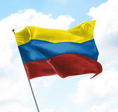 colombia flagę Obrazy Stock