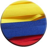 Colombia flag or banner. Made with Yellow, blue and red ribbons stock photography