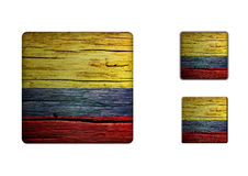 Colombia Flag Buttons Royalty Free Stock Photo
