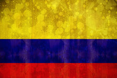 Colombia flag in grunge effect Royalty Free Stock Image