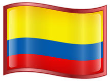 Colombia Flag icon Royalty Free Stock Photo