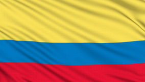 Colombia flag. stock video