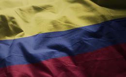 Colombia Flag Rumpled Close Up.  stock photos