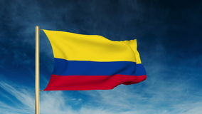 Colombia flag slider style. Waving in the win with stock video