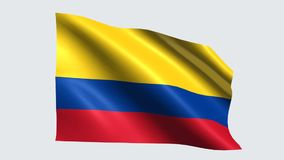 Colombia flag with transparent background stock video footage