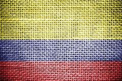 Colombia flagga. Royaltyfri Fotografi