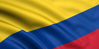 colombia flagga stock illustrationer