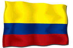 colombia flagga Royaltyfri Bild