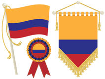 Colombia flags Stock Image