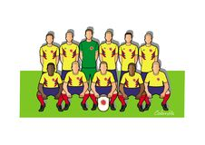 Colombia football team 2018. Qualified for the 2018 world cup in Russia Stock Photography
