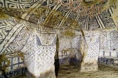 Colombia forntida gravvalv i Tierradentro arkivfoton
