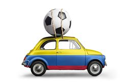 Colombia fotbollbil Royaltyfria Bilder