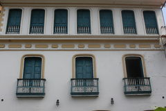 Colombia house. The traditional building in cartagena Stock Photos