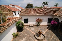 Colombia, Koloniale architectuur van Villa DE Leyva Royalty-vrije Stock Fotografie