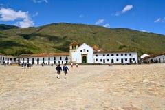 colombia koloniinvånare de leyva huvudfyrkantvilla Fotografering för Bildbyråer