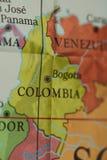 Colombia land på pappers- översikt arkivfoton
