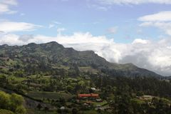 Colombia. Landscapes on the way to the city of Vilyavisensio Royalty Free Stock Images