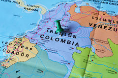 Colombia map Royalty Free Stock Images