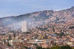 Colombia - Medellin, Antioquia - horisont av staden Arkivbilder
