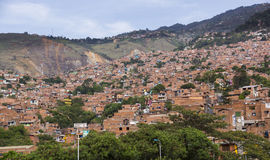 Colombia - Medellin, Antioquia - horisont av staden Royaltyfri Foto