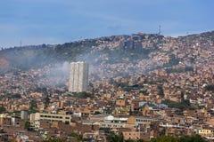 Colombia - Medellin, Antioquia - horisont av staden Arkivbild