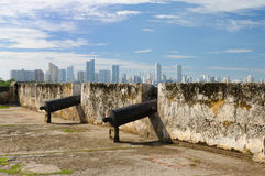 Colombia, Mening op nieuw Cartagena Stock Afbeelding