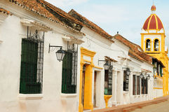 Colombia, Mompos. Mompos - the colonial city in Colombia, is a town lost in space and time. The picture present view on the colonial old town in Mompos stock images